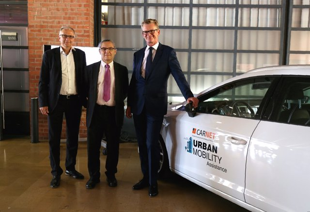 Jürgen Leohold (Volkswagen), Enric Fossas (UPC) y Matthias Rabe (Seat)