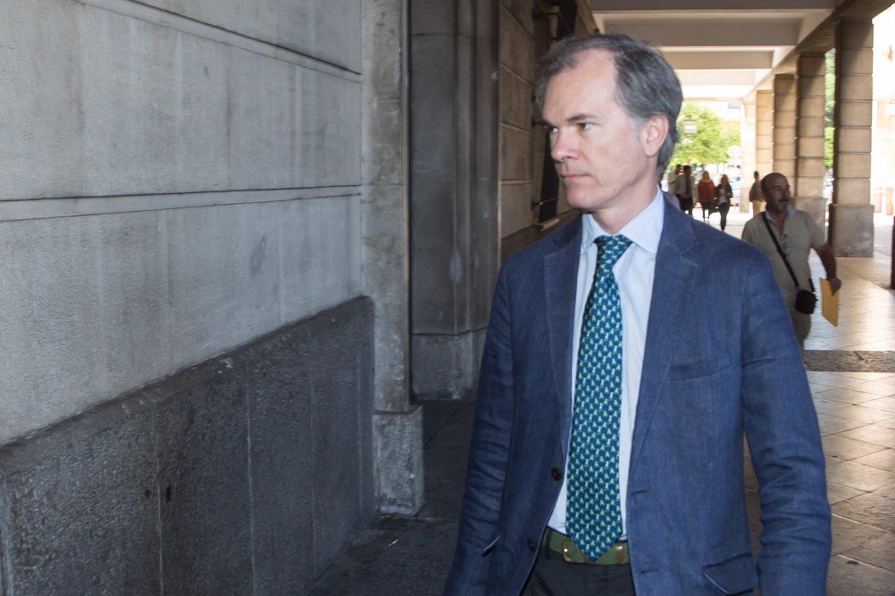 El juez del caso ERE Álvaro Martín a su llegada a los juzgados