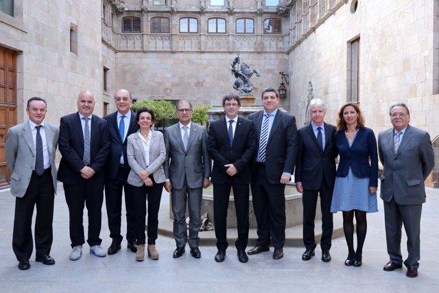 Comertia se ha reunido con el presidente de la Generalitat, Carles Puigdemont.