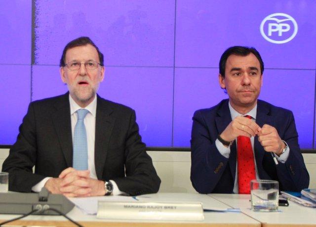 Mariano Rajoy y Fernando Martínez Maillo