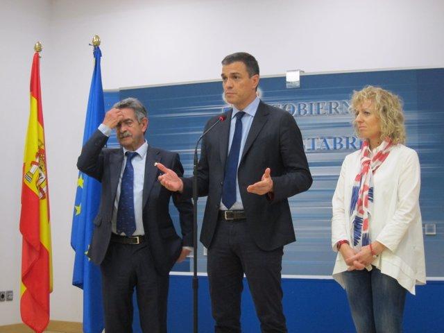 Revilla, Pedro Sánchez y Tezanos