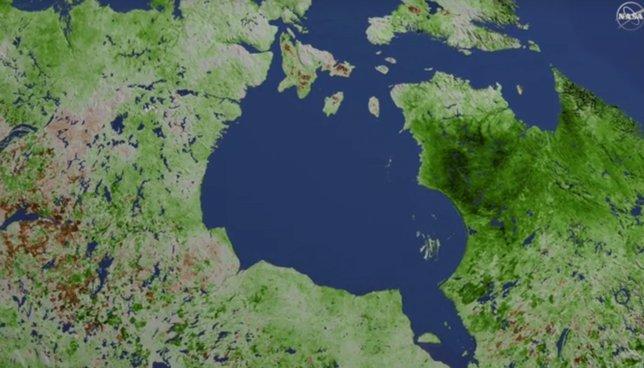 Aumento de vegetación en el norte de Canadá