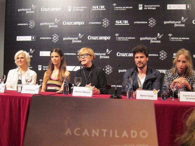 Rueda de prensa de 'Acantilado' de Taberna en el Festival de Cine de Málaga