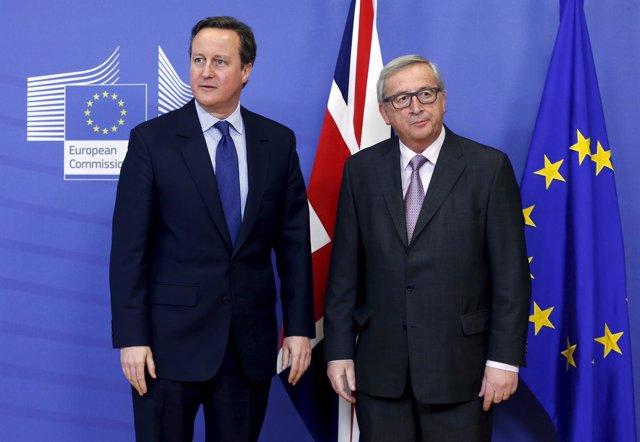 Reunión entre Cameron y Juncker en Bruselas