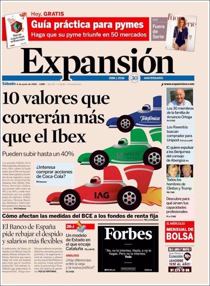 Las portadas de los periódicos económicos de este sábado 4 de junio de 2016
