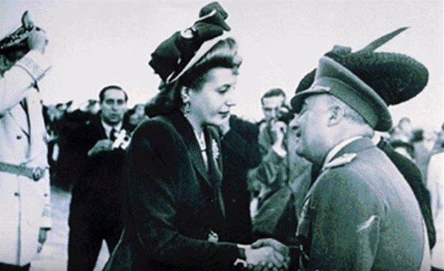 Visita de Eva Perón a España