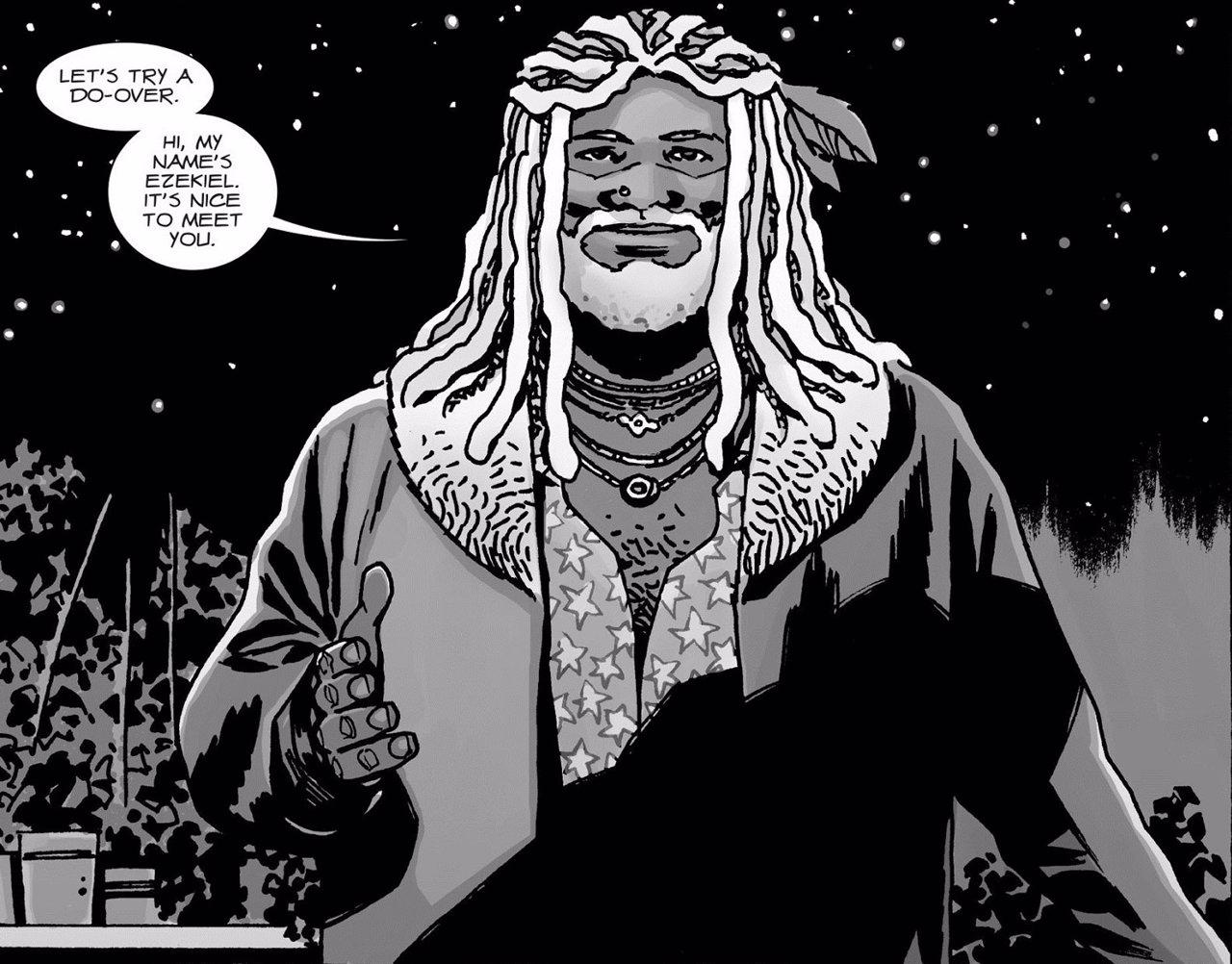 El Rey Ezekiel en The Walking Dead