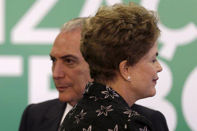 Dilma Rousseff,  y   Michel Temer