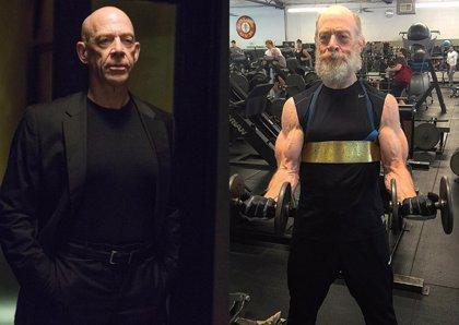La brutal transformación de J.K. Simmons para encarnar al comisario Gordon en La Liga de la Justicia