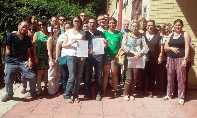 Los profesores del IES San Pablo denuncian la falta de cobertura de una baja