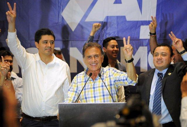 El candidato del PAN en Veracruz, Miguel Ángel Yunes