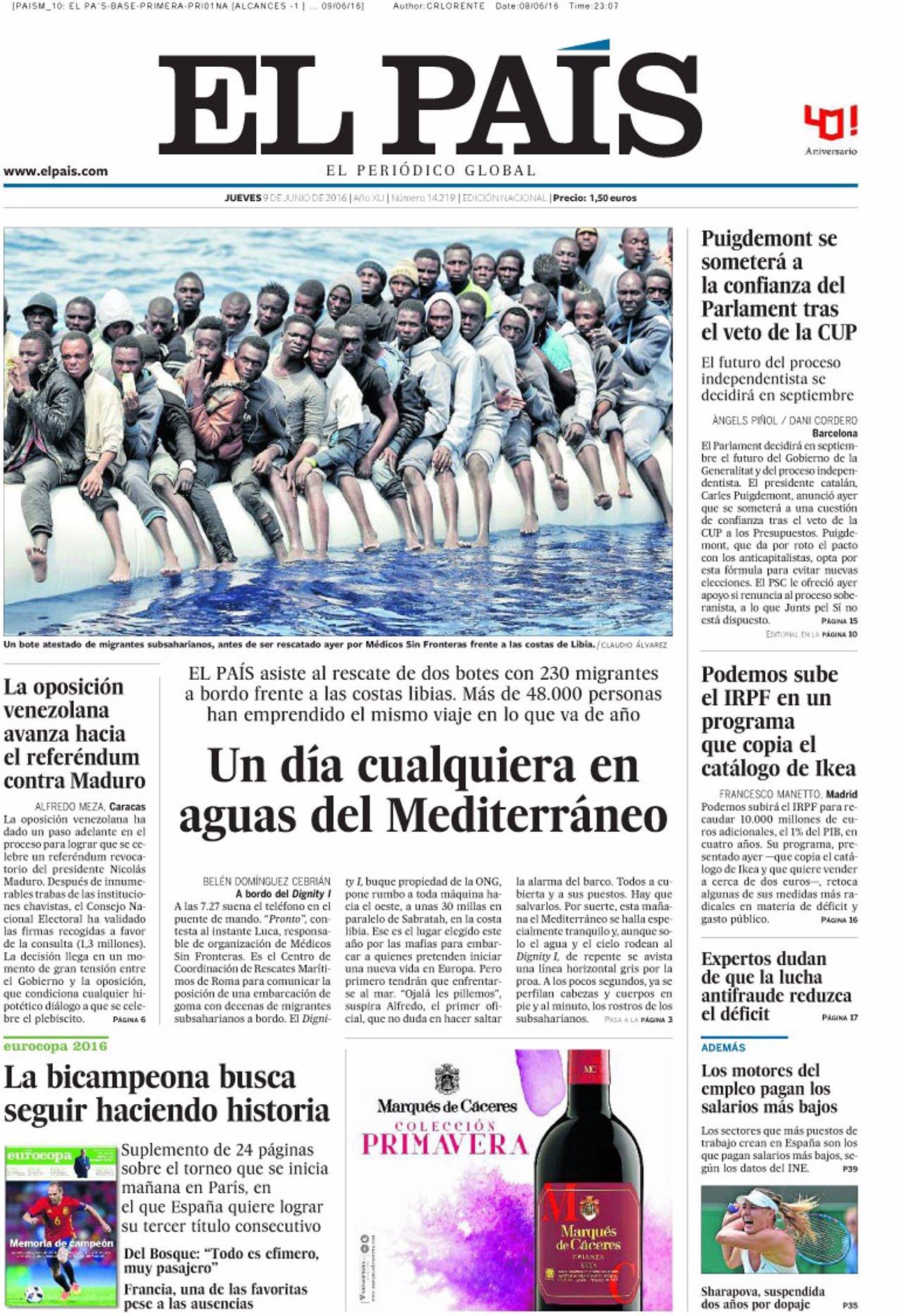 Portada El País