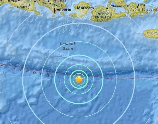 Terremoto al sur de Bali, en Indonesia