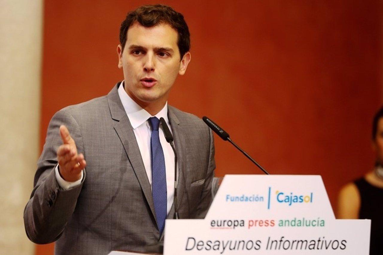 Albert Rivera, en los Desayunos de Europa Press Andalucía