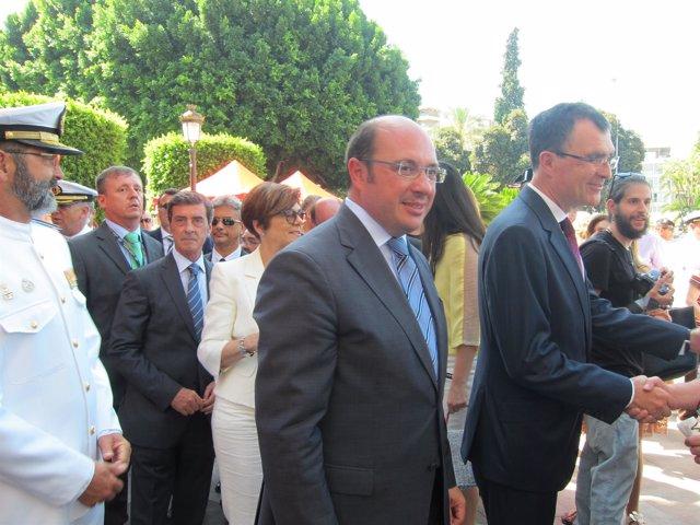 El presidente de la Comunidad junto alcalde Murcia en acto Día de la Región