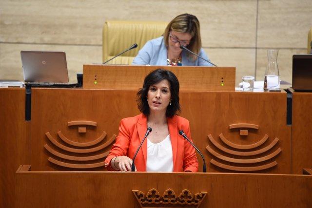 Esther Gutiérrez en la Asamblea