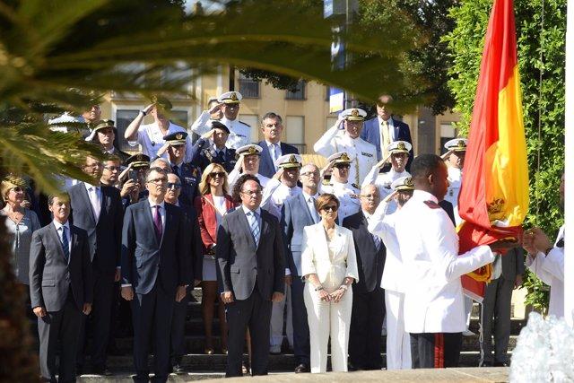 Acto Día de la Región con presidente, delegado y presidenta de la Asamblea