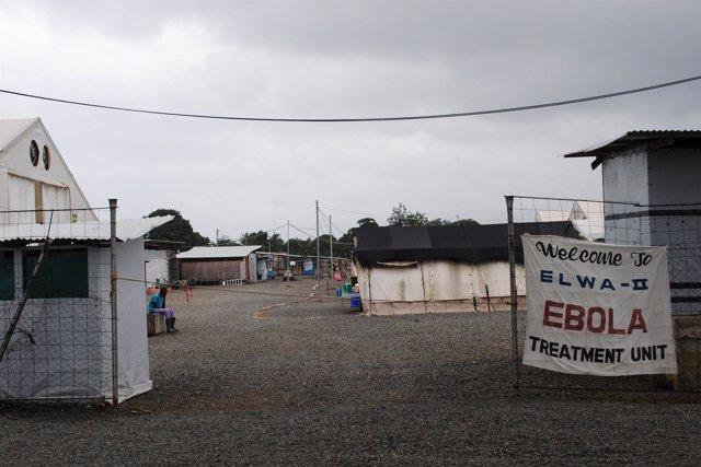Centro de tratamiento contra el ébola en Liberia