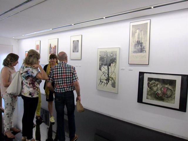 Algunas de las obras de la muestra que acoge el Zorrilla de Valladolid.
