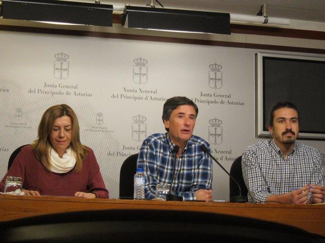 Rosa Espiño, Enrique López y Andrés Fernández
