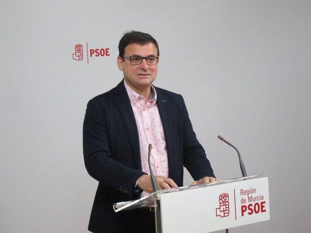 El portavoz del Comité electoral del PSOE-RM, Emilio Ivars
