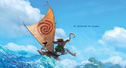 El océano te llama en el nuevo cartel de Vaiana, la nueva película de Disney