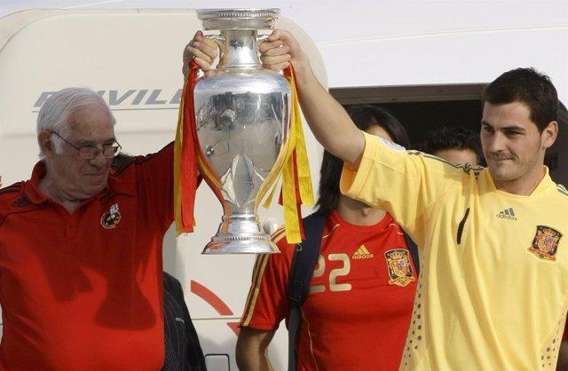 Iker Casillas Luis Aragonés Eurocopa 2008