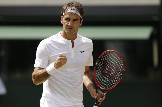 Federer tras meterse en octavos de Wimbledon 2015