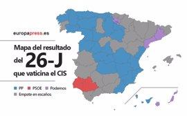 Elecciones 2016: Mapa del resultado que vaticina el CIS por provincias