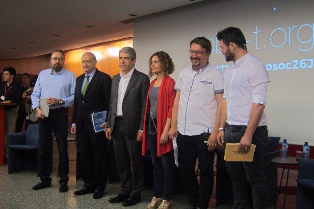 J.C.Girauta, J.Fernández, F.Homs, M.Batet, X.Domènech y G.Rufián