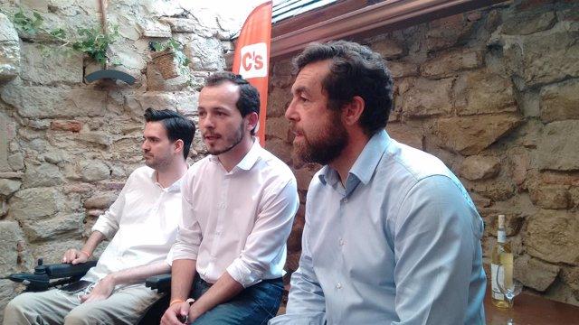 Miguel Gutiérrez en Logroño con Baena y Carrera