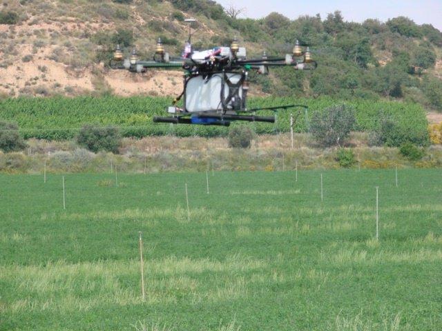Aplicación de productos fitosanitarios con drones