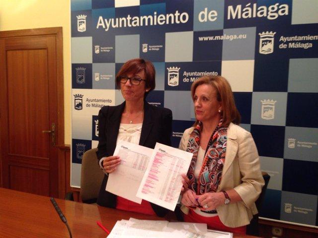 María Gámez y Begoña Medina, PSOE Ayuntamiento de Málaga