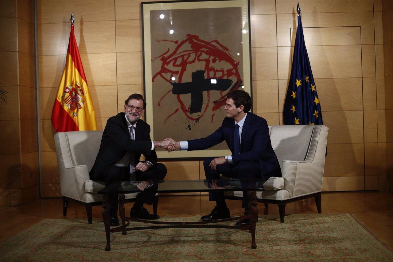 Rivera y Rajoy