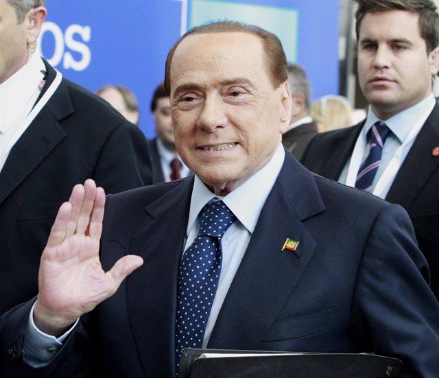 Silvio Berlusconi en el Congreso del Partido Popular Europeo