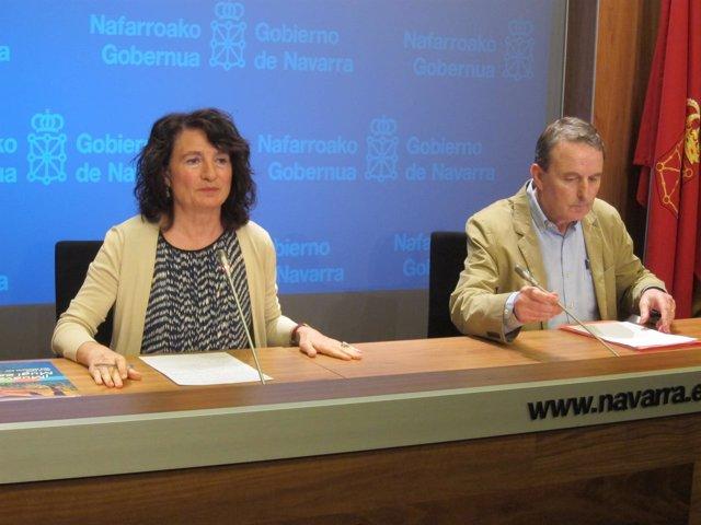 María José Pérez Jarauta y Javier Aldaz, del Instituto de Salud Pública.