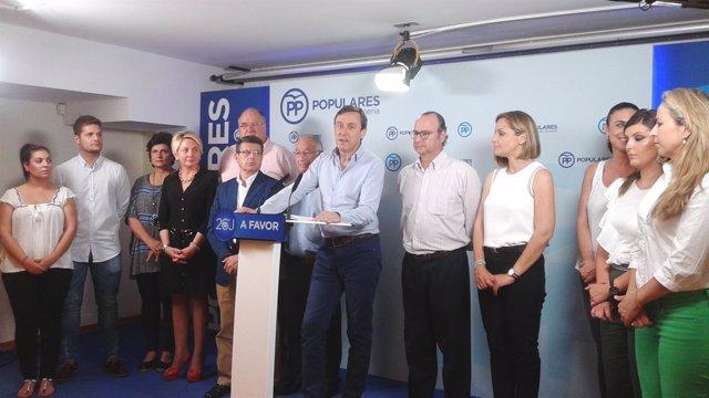 Hernando, en el acto de inicio de campaña en Almería