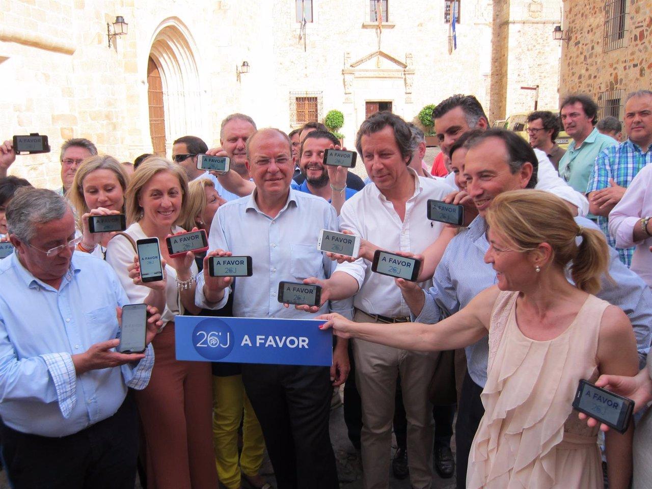Arranque de campaña del PP en Extremadura