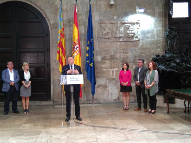 Puig ha valorado el CIS tras presidir la firma de un pacto con sindicatos