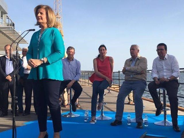 La candidata al Congreso por el PP de Huelva, Fátima Báñez.