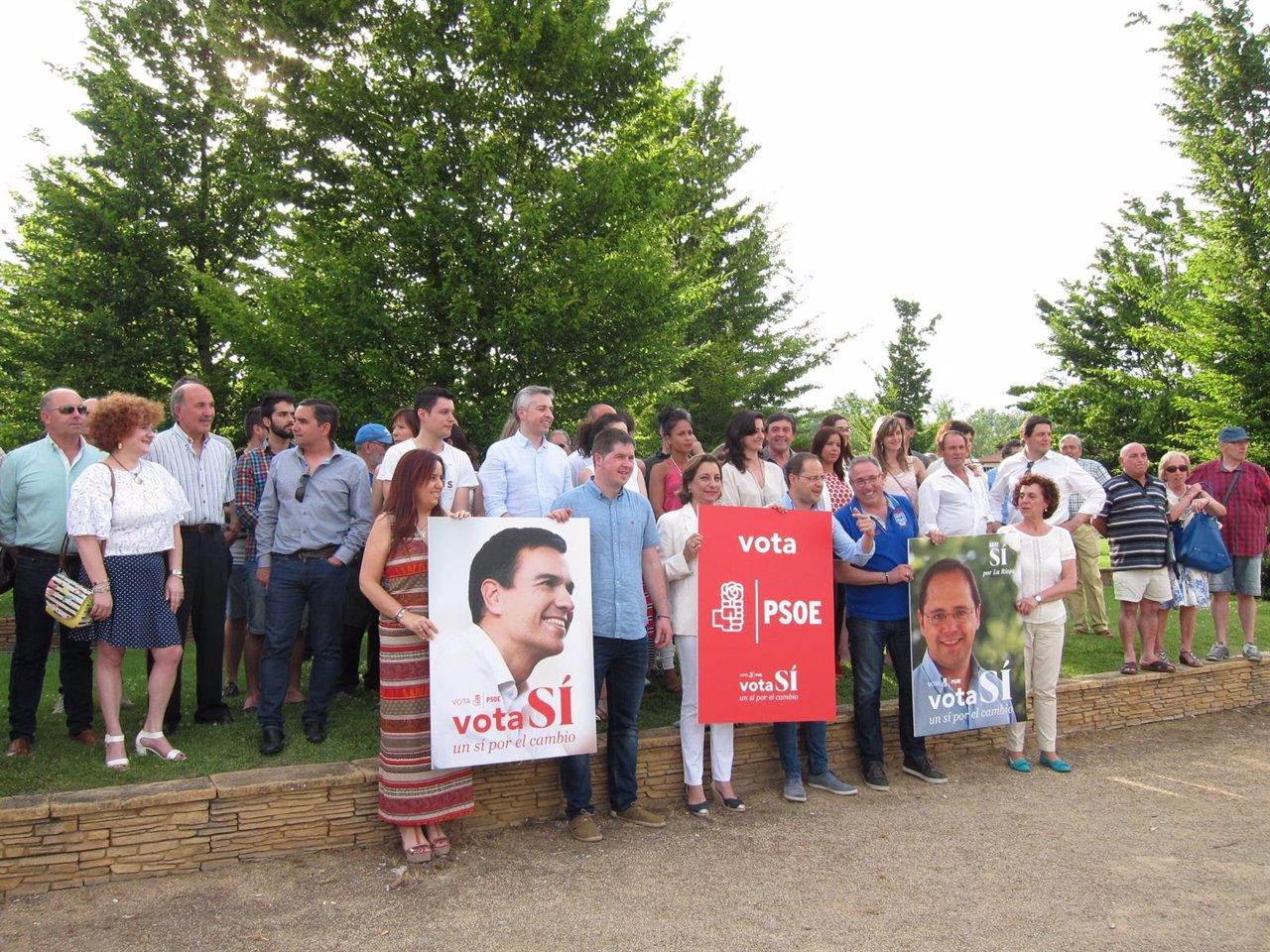Luena con candidatos del PSOE inicia la campaña de junio