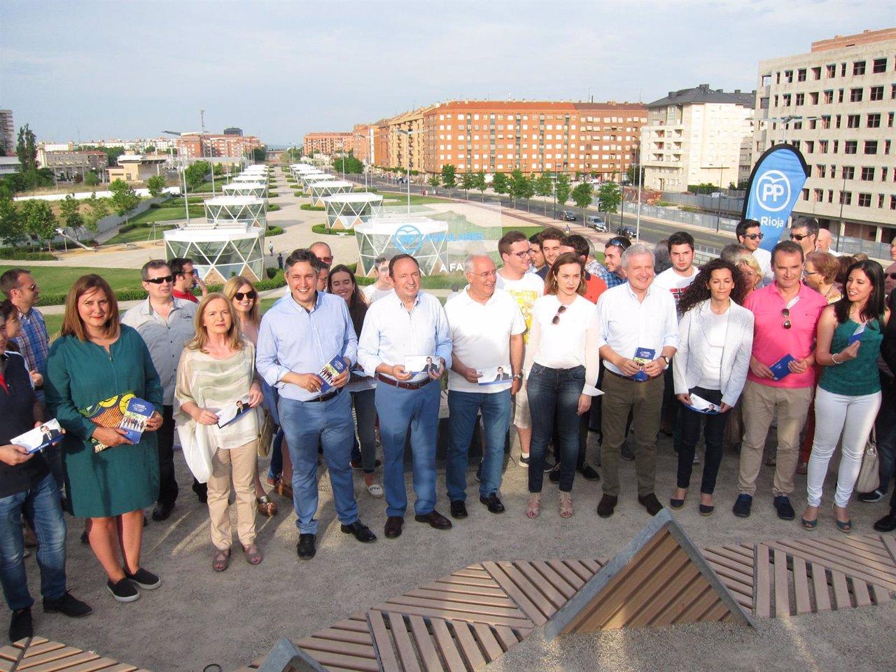 El PP riojano inicia la campaña electoral de las elecciones generales
