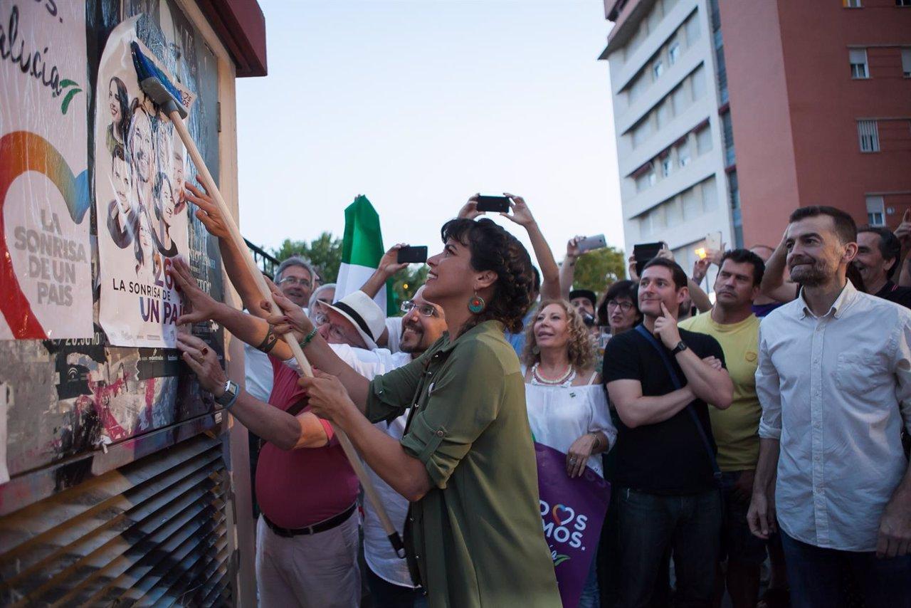 Teresa Rodríguez y Antonio Maíllo abren campaña en Sevilla