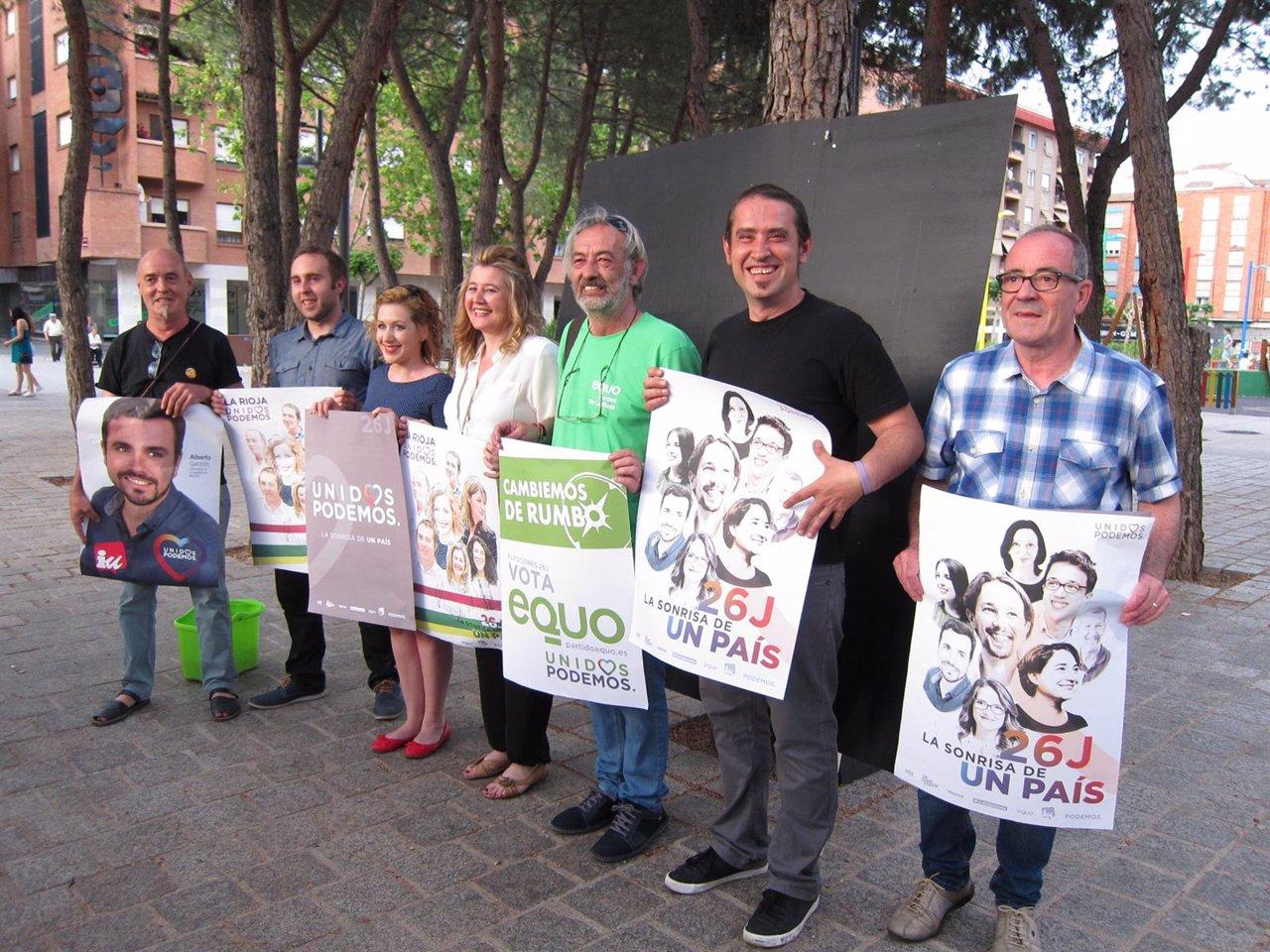 Unidos Podemos inicia la campaña electoral en La Rioja