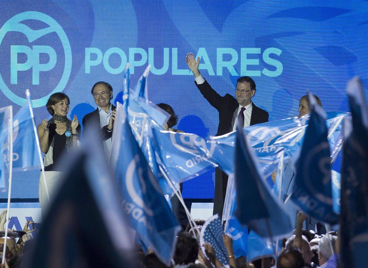 Mariano Rajoy abre camapaña en Madrid