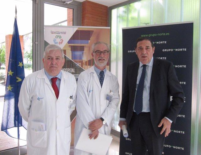 Alfonso Montero, Miguel Ángel Sánchez y Antonio María Sáez Aguado