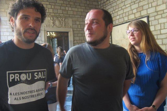 Jordi Ibarra (Prou Sal), David Fernàndez y Janet Sanz