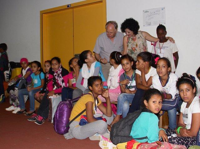 Llegada de los menores saharauis a Huelva.
