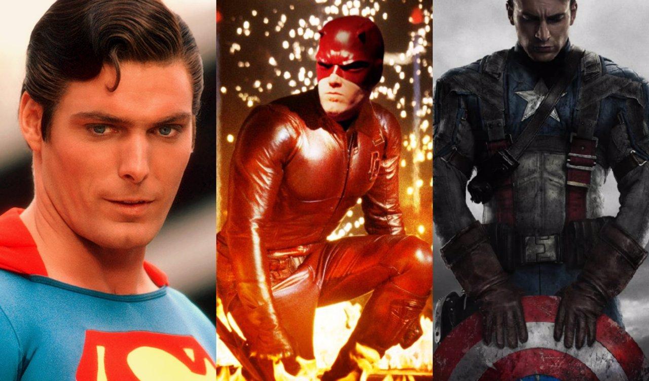 Collage gazapos en el cine de superhéroes