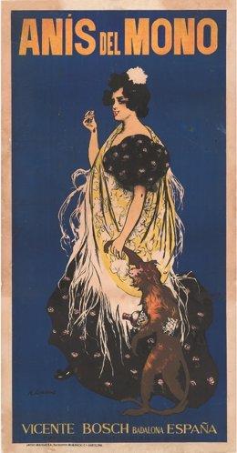 Cartel de Anís del mono, de Ramon Casas